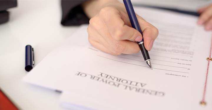 "Person signing a document labeled ""General Power of Attorney"""