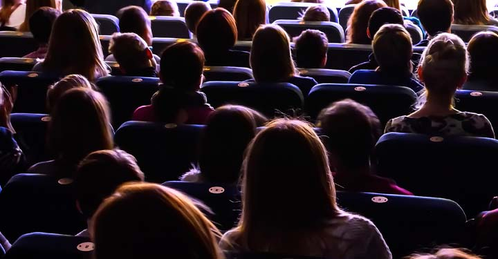 Audience in a movie theater