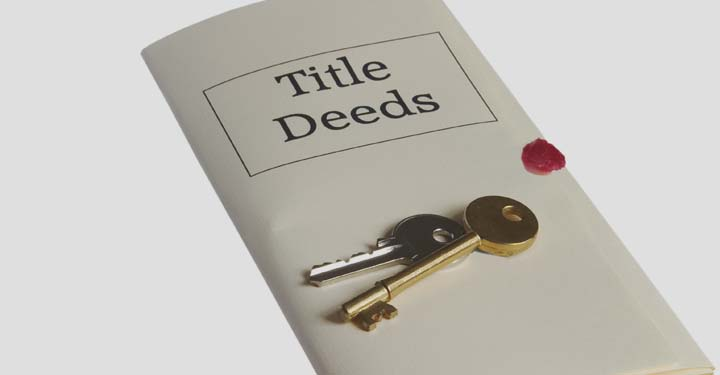 Title deeds with keys